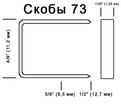 Скобы 73 для монтажа георешетки